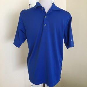 Nike Dri-Fit Men's Golf Polo Shirt Small Blue